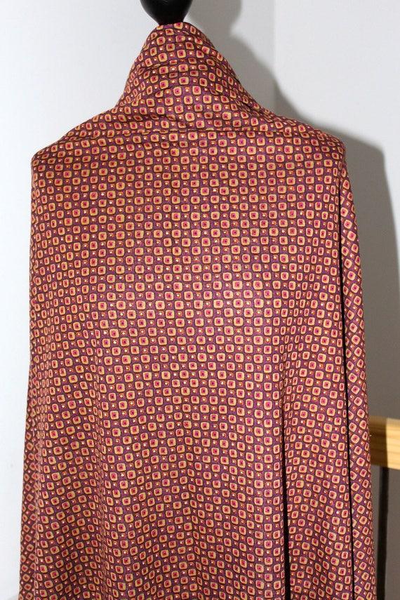 Coupon en jersey marron léger style vintage en 101x143cm