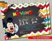 Artículos Similares A Fiesta De Mickey Mouse Invitación