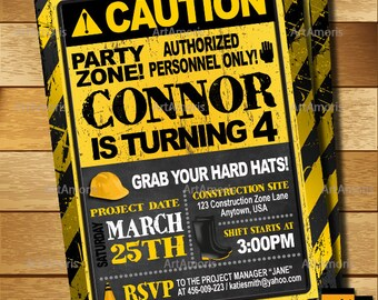Road sign invite etsy construction birthday invitation caution invitation under construction boys invitations warning road signs invitation r 171 stopboris Image collections
