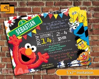 sesame street invitation sesame street birthday invitation etsy