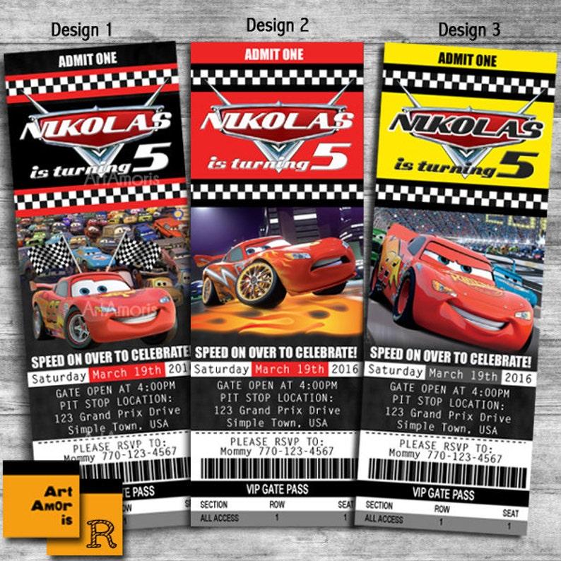 Biglietti Inviti di compleanno Cars auto invito  26748ed6a211