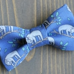 Sloth Bow Tie for Pets, Dog Bowtie, Collar Accessory, Collar not Included, Cat Clothing, Sloths, Animals, Handmade in Canada