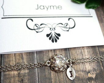 Personalized bridesmaid bracelet, Initial bracelet, Personalized jewelry, Bridal party gifts, Bridesmaid gift, Bridal Bracelet, Birthday12mm