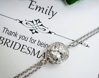 Bridal bracelet, Bridesmaid bracelet, Simple Bridal bracelet, Wedding bracelet, Bridesmaid Jewelry, Bridal Jewelry, Bridal Jewelry Set