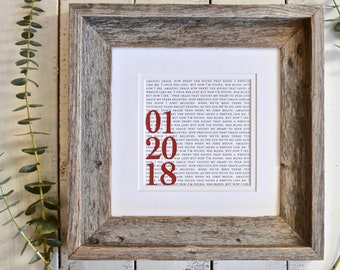 Anniversary Gift for Couple | 1st Anniversary Gift | Unique Anniversary Gift | 1st Dance Lyrics or Vows | Anniversary Gifts