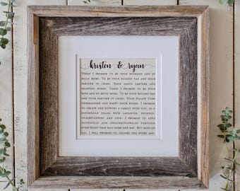 e8e0f4c4943 Custom Framed Song Lyrics with Names or Wedding Date