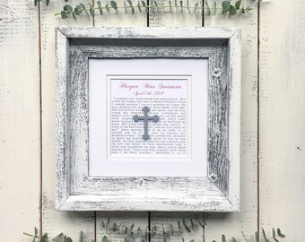 Baptism Gift For Boy Personalized | Baptism Gift for Boy Catholic | Baptism Gift for Boy Frame | Baptism Date & Baby Name