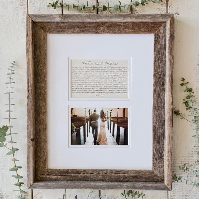 Wedding Gift Custom Wedding Gift With Photo And First Dance Lyrics