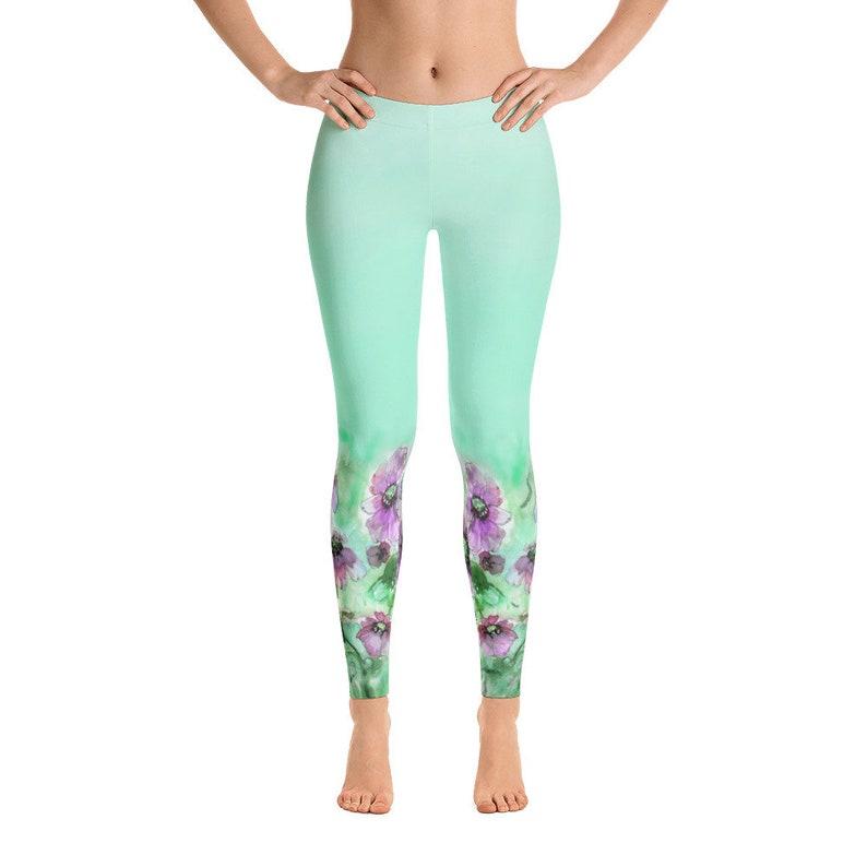 Yuotry Yoga Pants Wreath Christmas Women Power Yoga Pants Workout Yoga Capris Pants Leggings L