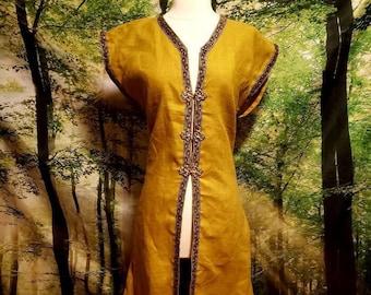 Custom Women's Surcoat in Linen with Trim