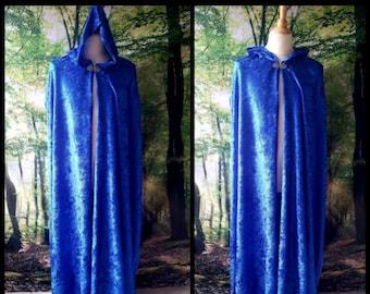 Full Cloak in Blue Velvet