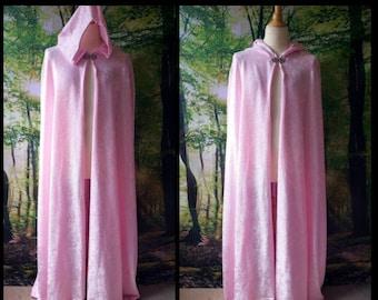 Full Cloak in Pink Velvet