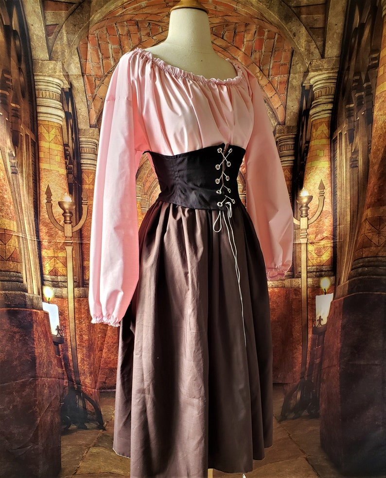 Classic Cotton Skirt in Brown image 0