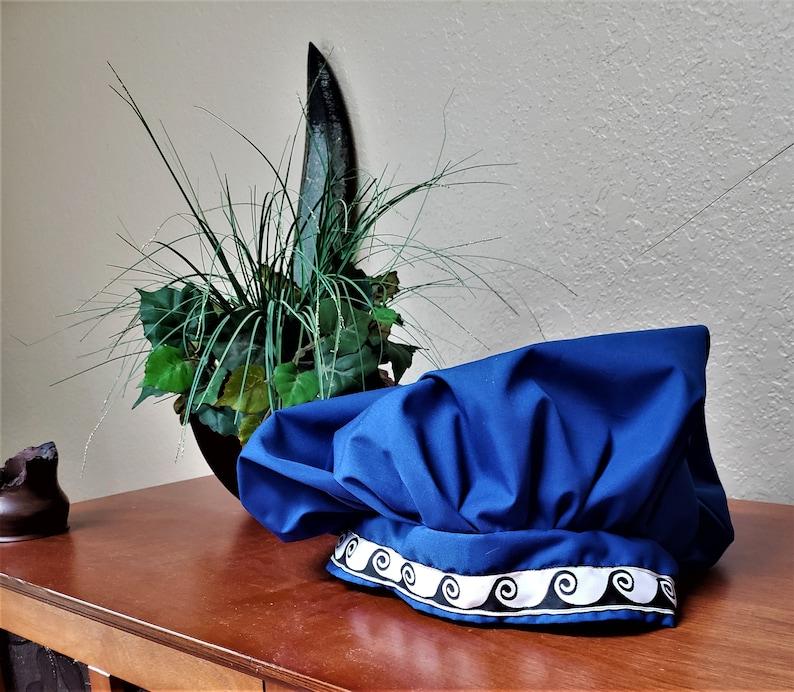 Blue Floppy Hat in Cotton image 0