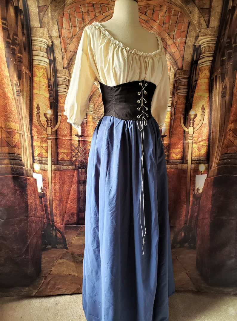 Classic Cotton Skirt in Blue image 0