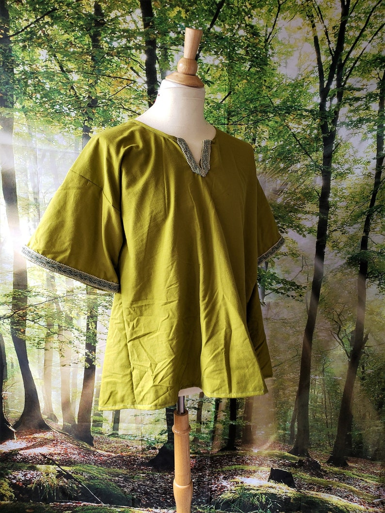 XL Classic Tunic in Olive Green Cotton image 0