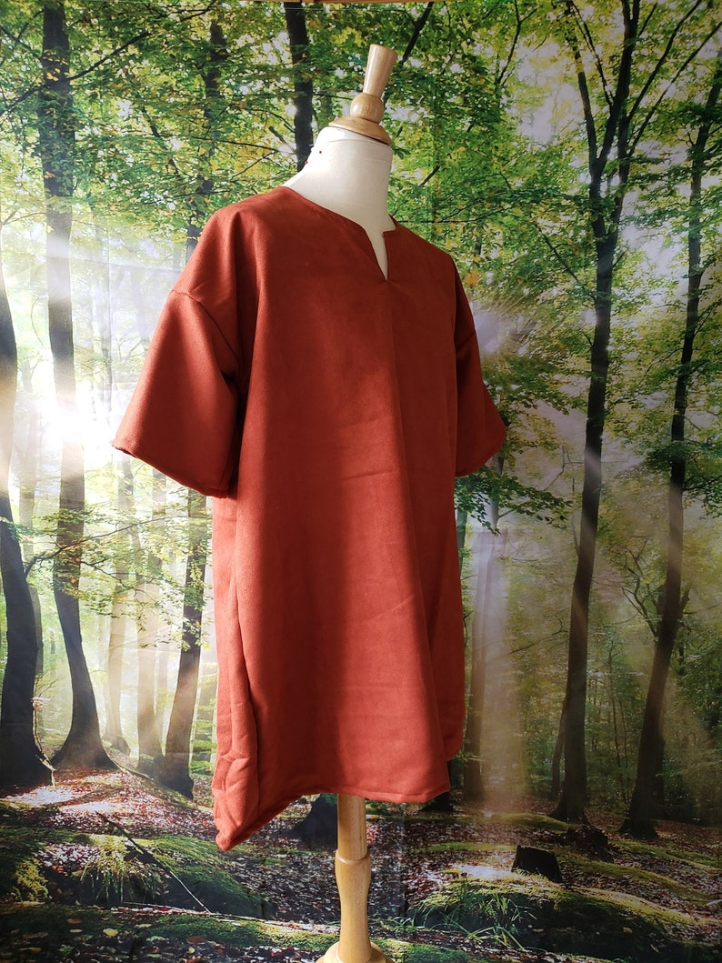 3XL Classic Tunic in Spice Orange Brown Suede image 0