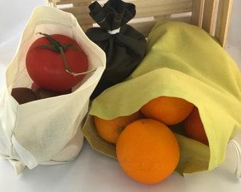 Zero Waste Bulk Bag, Running Bag, Cotton Bag, Bag Size S, M, L