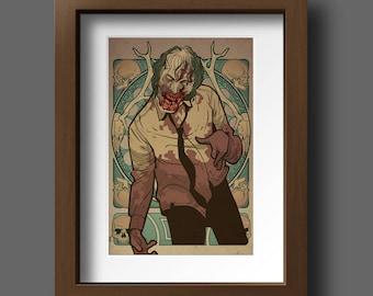Deer Walker  - zombie print