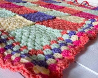 Blanket - Afghan - Granny Square - Lapghan - Joy