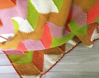 Blanket - Afghan - Baby Blanket - Lapghan - Lap Blanket - Beach Hut - Carmelo