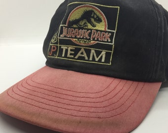 1975e2bc786d0 Thrashed Vintage 1993 Jurassic Park McDonald s Uniform Dad Hat