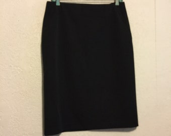 Vintage 90/'s Amy Byer Rainbow Colored Black Elastic Stretchy Mini Skirt free shipping
