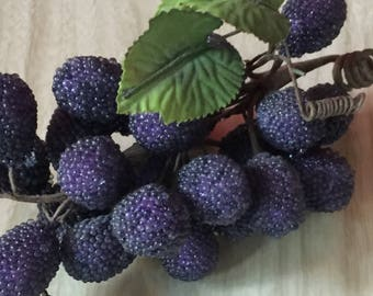 Vintage Purple Glass Berry Cluster