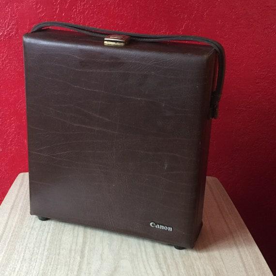 Canon Vintage 1970s Brown Hard Camera Case Briefca