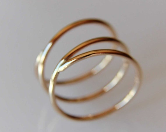 Bypass Thumb Ring, Coil Ring, Spiral Thumb Ring, Wrap Around Ring, Statement Ring, Bypass Ring, Gold Jewelry, Modern, Wrap Ring, Gift,2