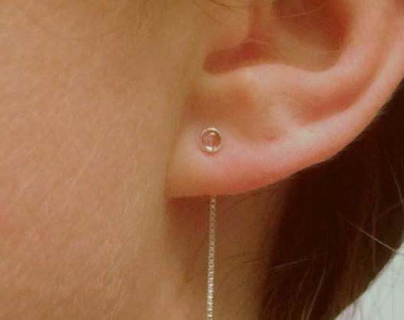 Chain Earrings,Threader Earrings,Delicate Chain Earrings,Minimalist,Edgy Jewelry,Tourmaline Earrings,PinkThreader Earrings,Chain,Gemstone