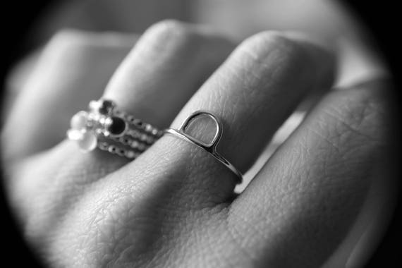 Arc Ring, Arch Ring, Half Circle Ring, Simple Band, Semi Circle Ring, Unique Ring, Minimalist Rings, Modern Ring, Stacking Ring, Gift