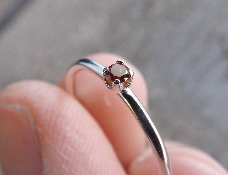 Red Diamond Ring Genuine Diamond Ring Red Diamond Slim | Etsy