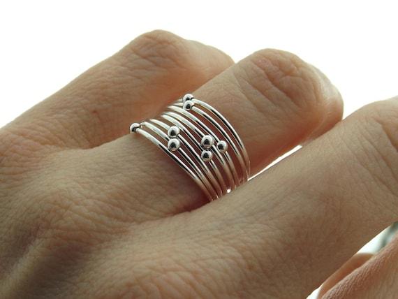 Choose Your  Orbit Ring, Spinner Rings, Stacking Rings, Modern Sterling Spinner Ring, Thin Ring, Beaded Ring, Whisper Rings, Delicate Rings