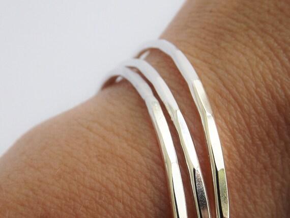 Hammered Bangle Set, Bangle Bracelets, Boho Bracelets, Boho Jewelry, Boho Bangle Bracelet, Textured Bangles, Modern, Sleek, Stacker