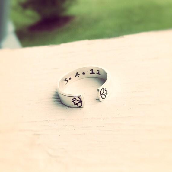 Lotus ring,Lotus flower ring,Yoga ring,Zen ring,Yoga jewelry,Personalized Ring,Gift,Sterling Ring,Open Design,Anniversary Ring,Double Lotus