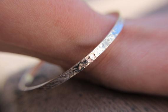 Bangles, Bracelets, Stacking Bracelets, Hammered, Textured, Stacking Bangles, Rustic, Dimple Texture, Unique, Gift, Modern, Chic, Stacking
