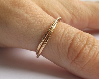 Gold Interlocking Thumb Rings,Thumb Rings,Gold Thumb Ring,Textured Rings,Rolling Ring,Stacking Rings, Minimalist Rings, Unique Rings, Rings