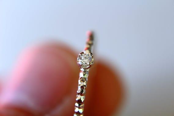 Diamond Ring, Genuine Diamond Ring, White Diamond, Faceted Ring, Minimalist Ring, Gift, Gemstone Ring, Tiny Diamond Ring, Diamond Ring, Gift