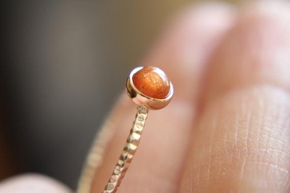 Sunstone Ring, Gemstone Ring, Engagement Ring, Romantic Ring, Sunstone, Sunstone Stacking Ring, Faceted Gemstone Ring, Sunstone