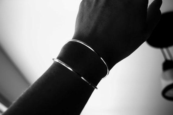 Simple Double Cuff Bracelet, Open Cuff Bracelet, Cuff Bracelet, Silver Bracelet, Simple Bracelet, Minimal Wear, Modern Chic, Modest Cuff