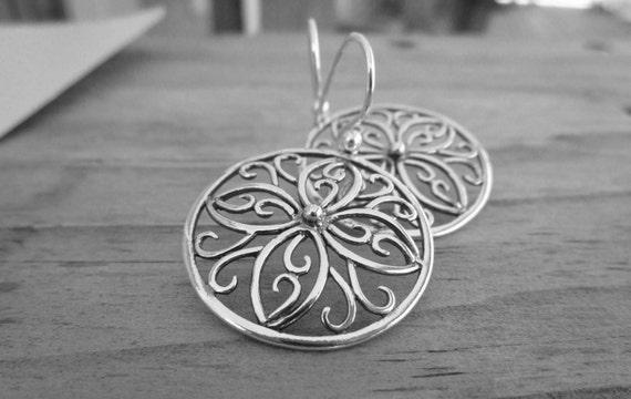 Gypsy Earrings, Simple Earrings, Dangle Earrings, Floral Earrings, Minimalist Earrings, Everyday Earrings, Boho Chic Earrings, Gift