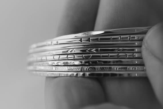 Bangles, Bangle Bracelets, Sterling Silver Bangle, Gold Bangle, Textured Bangle, Stacking Bracelet, Stacking Bangle, Choose Your Bangle,Gift