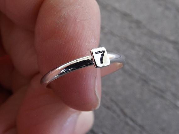 Bar Stacking Rings, Personalized Rings, Minimalist Rings, Initial Rings, Number Rings, Custom Ring, Rings, Family Rings, Letter