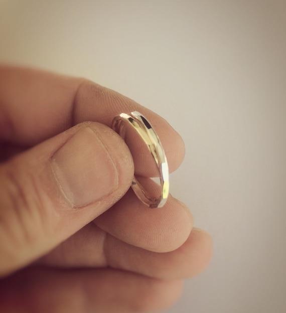 Interlocking Ring, Thumb Ring, Russian Ring, Thumb Ring, Hammered, Textured Ring, Rolling Ring, Stacking Ring, Minimalist Ring, Unique Rings