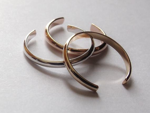 Simple Ear Cuff, Choose your set, Mixed Metal Ear Cuffs, Everyday Ear Cuff, Ear Cuff, Ring Ear Cuff, Customizable Ear Cuff Earring,Toe Ring