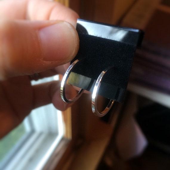 Sterling Silver Notched Earrings,Earrings,Sterling Earrings,Post Earrings,Hoop Earrings,TexturedEarrings,Minimalist Earrings,Post Earrings