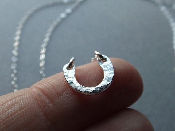 Tiny Horseshoe Necklace,Lucky Necklace,Minimalist Jewelry,Minimalist Necklace, Sterling Silver Necklace, Necklace, Minimalist Jewelry, Lucky