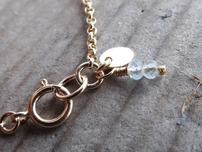 Delicate Gold Jewelry Gift Topaz Jewelry Tiny Gold Disc Bracelet Dainty Initial Bracelet Personalized Tiny Gold Initial Bracelet