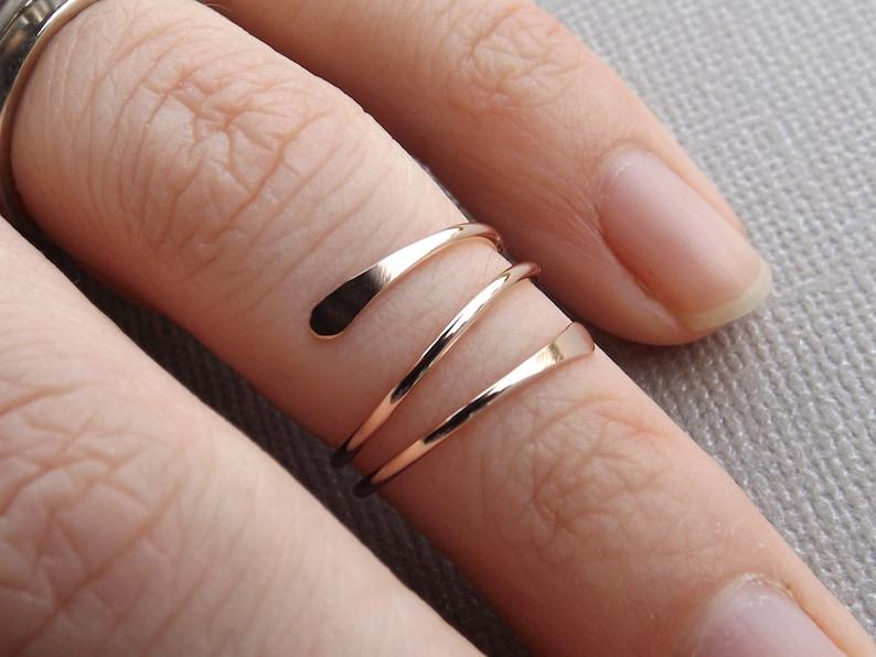 Super Sale 14k Gold or Rose Fill Knuckle Ring Knuckle image 0